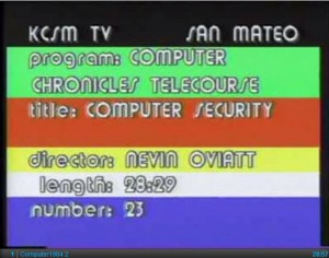 Computer security video, 1984
